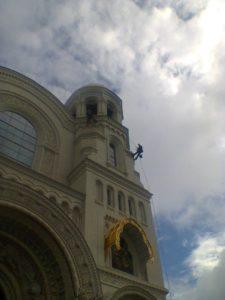 Альпфит проводит работы на Морском Никольском соборе в Кронтадте